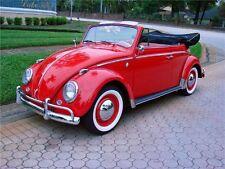 "Original ATLAS 15"" White Wall Port a walls Tire Trim set of 4 VW BUG PRE BEETLE"