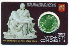 Vaticano offiz. Coincard-COIN CARD 2013 n. 4 con 50 cent Papa Benedetto XVI, PIETA'