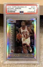 Michael Jordan 1996-97 Topps Holding Court Refractor #HC2 PSA 8 Bulls HOF
