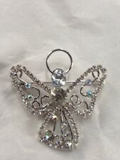 STRASS CRISTAL ANGE Broche Confirmation Communion Cadeau