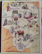 Carte de France Illustrées d'après Pinchon Tulle Brive Foies Gras Limoges Bellac