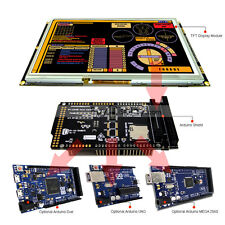 """8"""" inch TFT LCD Resistive Touch RA8875 Shield for Arduino Due,MEGA 2560 Uno"""