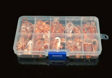 70PCS Bolt Hole Copper Cable Lugs Battery Terminals Set Wire Connector 10 to 50A