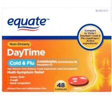 Equate Non-Drowsy DayTime Cold + Flu Multi-Symptom Relief Acetaminophen 48 Caps