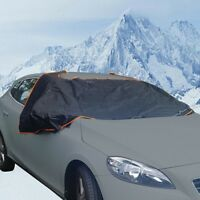 Car Windsheild Frost, Ice & Winter Protection Magnetic Windscreen Cover - BLACK