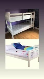 triple bunk beds with mattress