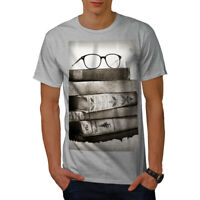 Wellcoda Old Collection Books Mens T-shirt, Retro Graphic Design Printed Tee