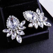 Ear Stud Hoop tassels Pineapple earrings New White Crystal Ancient Gold Long