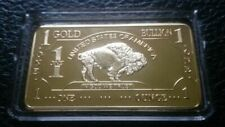 1 OZ 500 Millls  Buffalo Bar Bullion