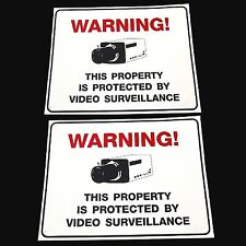 (2) LOT OF HOME SECURITY SPY CAMERAS YARD WARNING SIGNS