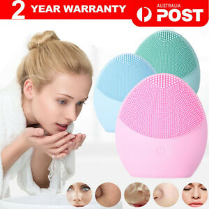 Silicone Face Cleansing Brush Electric Facial Cleanser Washing Massager Scrubber