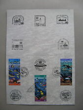 UNITED NATIONS NY VI GE, folderr FDC 1992, clean oceans, whale dolphin turtle