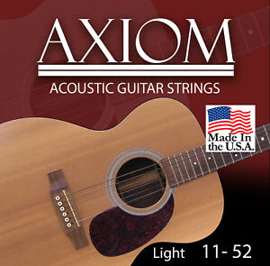 Axiom Acoustic Guitar Strings 11-52 Made in USA