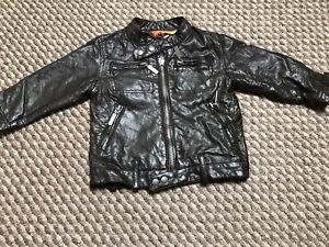 Baby Boys Ben Sherman Leather Jacket 6-12 Months