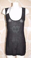 Haut noir neuf taille 3 marque Rivières de Lune avec soie étiqueté à 60€ (v)