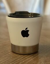 NEW RARE APPLE INC LOGO EMPLOYEE WHITE SHOT GLASS STYLE STAINLESS STEEL HOT COLD