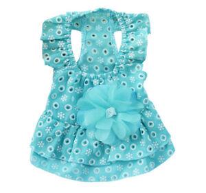 Small Dog Girl Skirt Clothes Puppy Apparel Tutu Pet Dress Sundress Size XS S M L