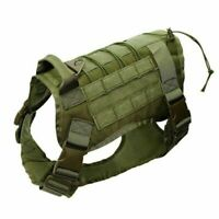 Police K9 Tactical Training Dog Harness Military Adjustable Nylon Vest Supply