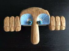 Vintage HOWARD JENSEN Original Carved Wood Table Art Monster Creature Sculpture