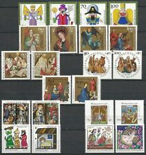 Germany 1990 1991 1992 1993 1994 1995 1996 1997 1998 MNH - Christmas Stamp Sets