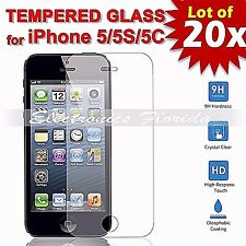 20X Premium Tempered Glass Film Screen Protector 2.5D for iPhone 5s / 5c / 5