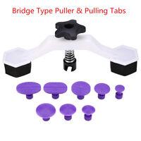 Body Dent Paintless Repair Tool Kit 1 Bridge Type Puller + 8pcs Glue Puller Tabs