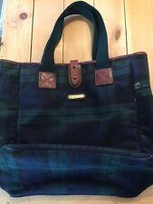 Polo Ralph Lauren VTG Blackwatch Plaid Bag Travel Tote Carryall