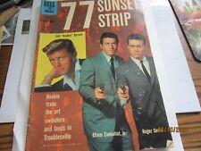 77 SUNSET STRIP Kookie Byrnes Zimbalist Roger Smith RARE Comic BOOK 1960 Vintage