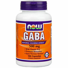 Now Foods Gaba 500 MG 100 Capsules Anxiety Stress