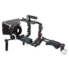 FILMCITY Shoulder Support Mount CAMERA RIG + Follow focus + Mattebox Hood Video