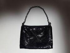 Whiting & Davis Black Mesh Evening Bag Handbag Clutch Purse