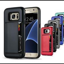 Hard Case TPU Schutzhülle Für Samsung Handy Outdoor Cover Hybrid Hülle Kartenfac