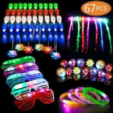 MIBOTE 67 PCs LED Light Up Toys Party Favors Glow in the Dark Party Supplies for