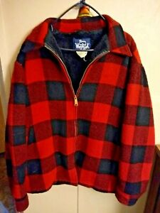 Vintage Woolrich Hunting Jacket Coat Buffalo Plaid Wool Made in USA