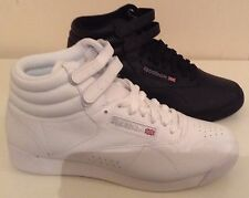 AUTHENTIC REEBOK FREESTYLE HI TRAINERS IN 2 COLOURS WHITE AND BLACK