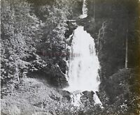 Suisse Chute Del Giessbach Foto PL53L7n11 Stereo Placca Lente 1908