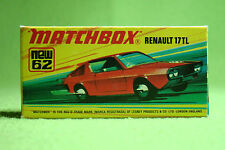 Modellauto - Matchbox - Superfast - Nr. 62 Renault 17 TL - 6 Label - OVP