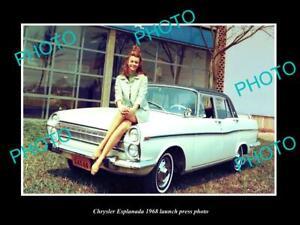 OLD POSTCARD SIZE PHOTO OF CHRYSLER ESPLANADA 1968 LAUNCH PRESS PHOTO