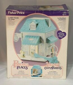 Vintage Fisher-Price Precious Places Cuddly Friends Pet Shop Playset Mint in Box