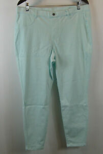 Legacy Soho Stretch Petite Twill Leggings Mint PL NEW A377863