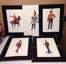 Regimental Uniform Prints Set of 5  British Scotland Military Allied Printers