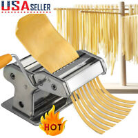 Steel Pasta Maker Noodle Making Machine Dough Cutter Roller with Handle