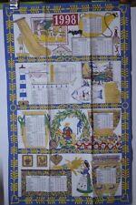 ANCIEN TORCHON CALENDRIER ANNÉE 1998 BEAUVILLE PTT LA POSTE TAPISSERIE