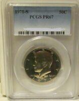 1971-S KENNEDY HALF DOLLAR PCGS PR67