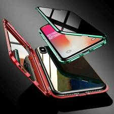 Privacy Anti-peeping Magnetic Double Glass Case Cover For iPhone11 Pro Max 6 7 8