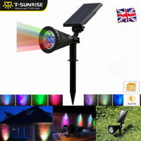 1/2/4/5PCS Outdoor 4LED Solar Powered Flood Lights Garden Yard Wall Spotlight
