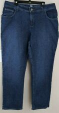 Lee Riders Womens Relaxed Fit Jeans Medium-Darkwash size 20W