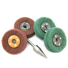 5Pcs Scotchbrite Fibral Polishing Mops Wheel Polishing Pad For alloy Metal Drill
