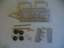 Twin axle trailer 1/43rd scale white metal kit  by K & R Replicas