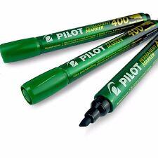 Pilot Pointe biseautée Marqueur permanent Stylo - Vert - Lot de 3